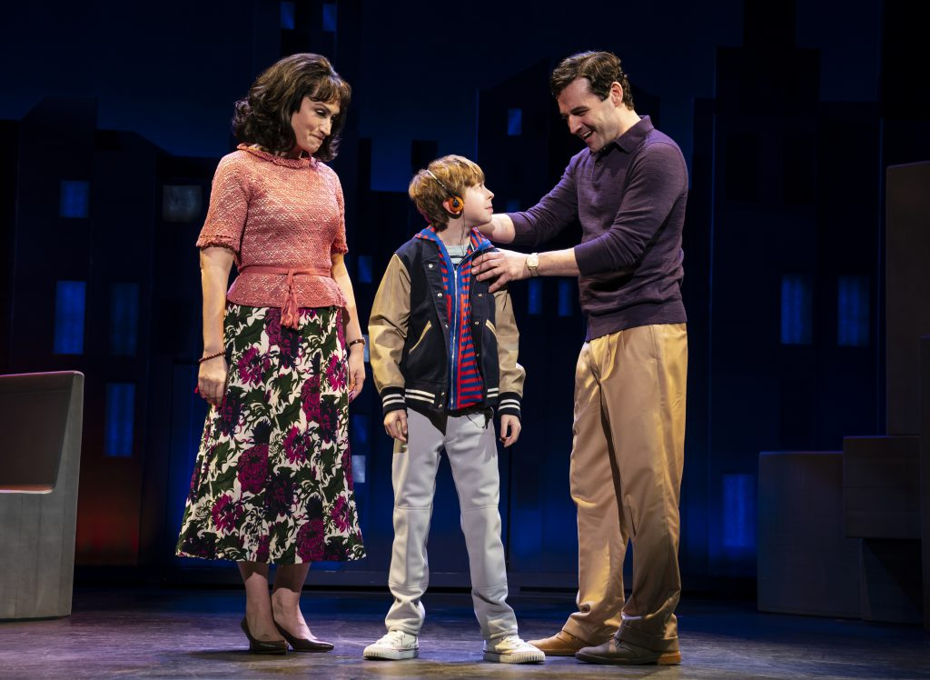 Eden Espinosa, Thatcher Jacobs and Max von Essen in FALSETTOS presented by Broadway On Tour March 12-17, 2019 at the Sacramento Community Center Theater. Photo by Joan Marcus.