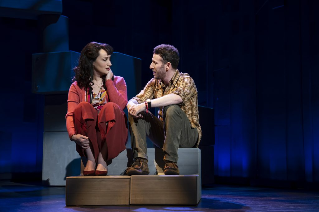 Eden Espinosa and Nick Blaemire in FALSETTOS presented by Broadway On Tour March 12-17, 2019 at the Sacramento Community Center Theater. Photo by Joan Marcus.