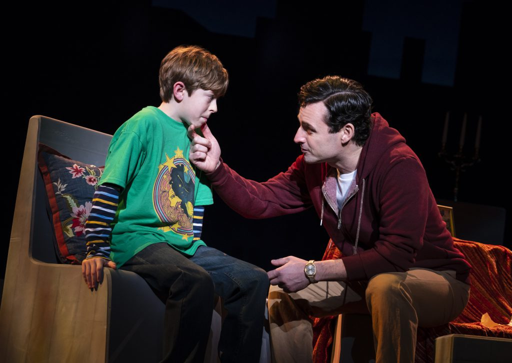 Thatcher Jacobs and Max von Essen in FALSETTOS presented by Broadway On Tour March 12-17, 2019 at the Sacramento Community Center Theater. Photo by Joan Marcus.