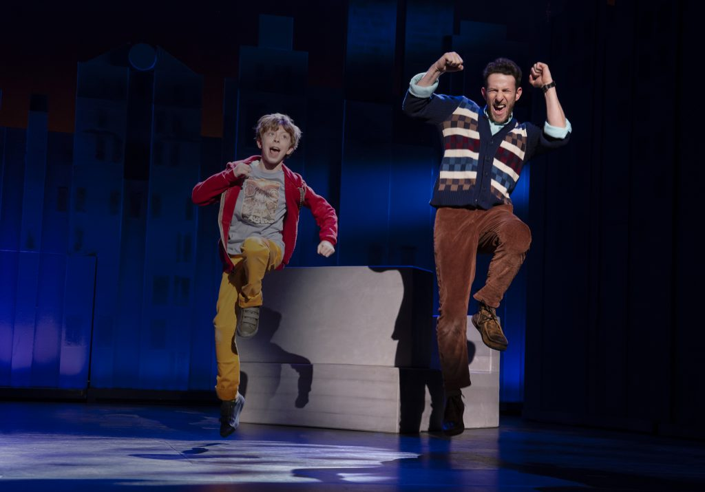 Thatcher Jacobs and Nick Blaemire in FALSETTOS presented by Broadway On Tour March 12-17, 2019 at the Sacramento Community Center Theater. Photo by Joan Marcus.