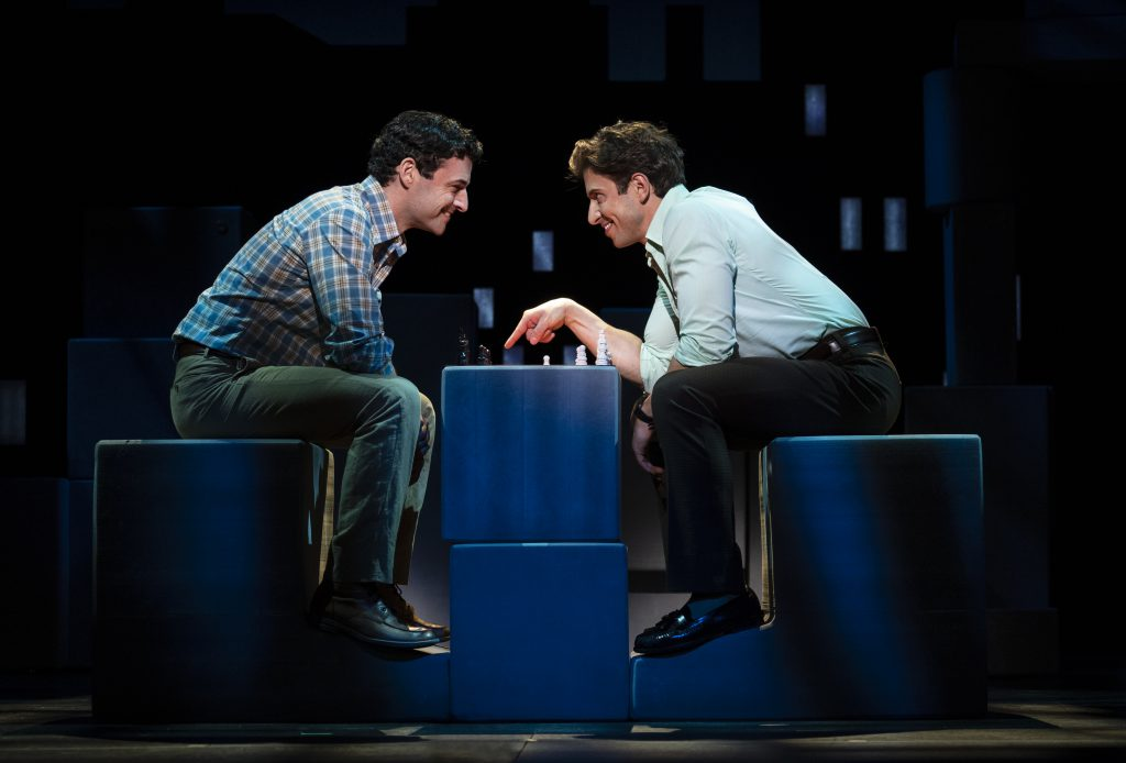 Max von Essen and Nick Adams, from the First National Tour of FALSETTOS. Photo by Joan Marcus.