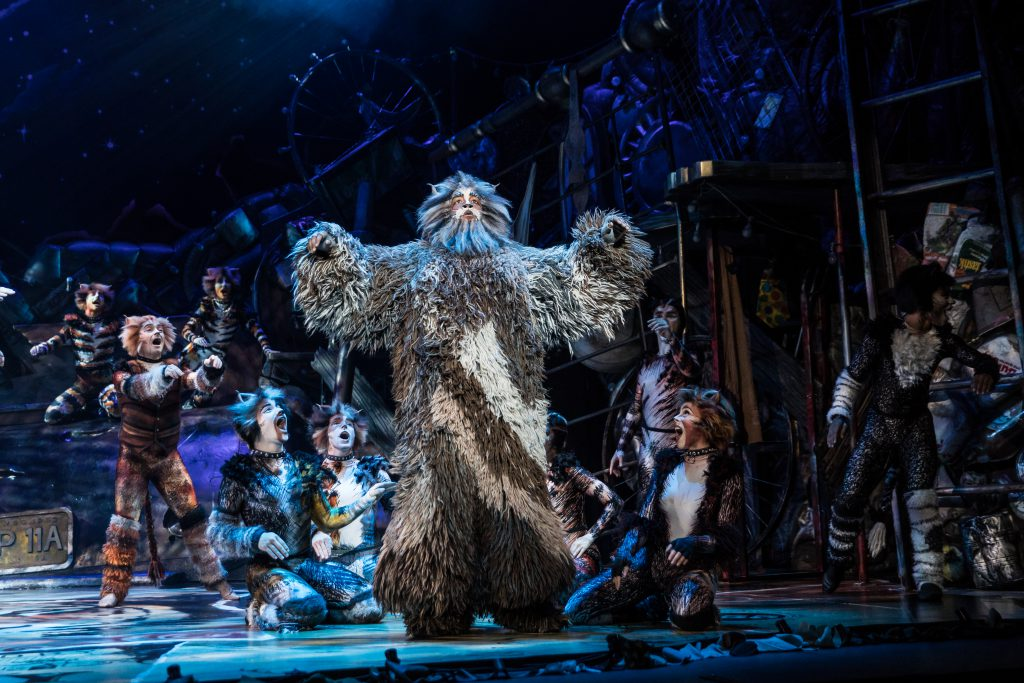 Brandon Michael Nase as 'Old Deuteronomy' and the Broadway On Tour presentation of CATS at the Sacramento Community Center Theater Apr. 2 – 7, 2019. Photo by Matthew Murphy.