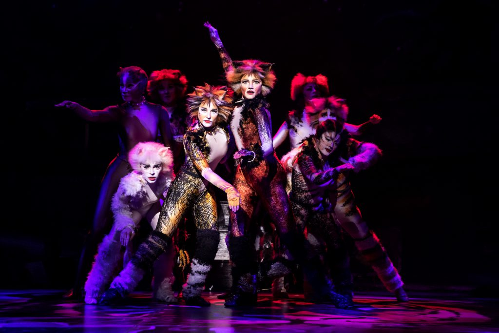Company of CATS presented by Broadway On Tour at the Sacramento Community Center Theater Apr. 2 – 7, 2019. Photo by Matthew Murphy.