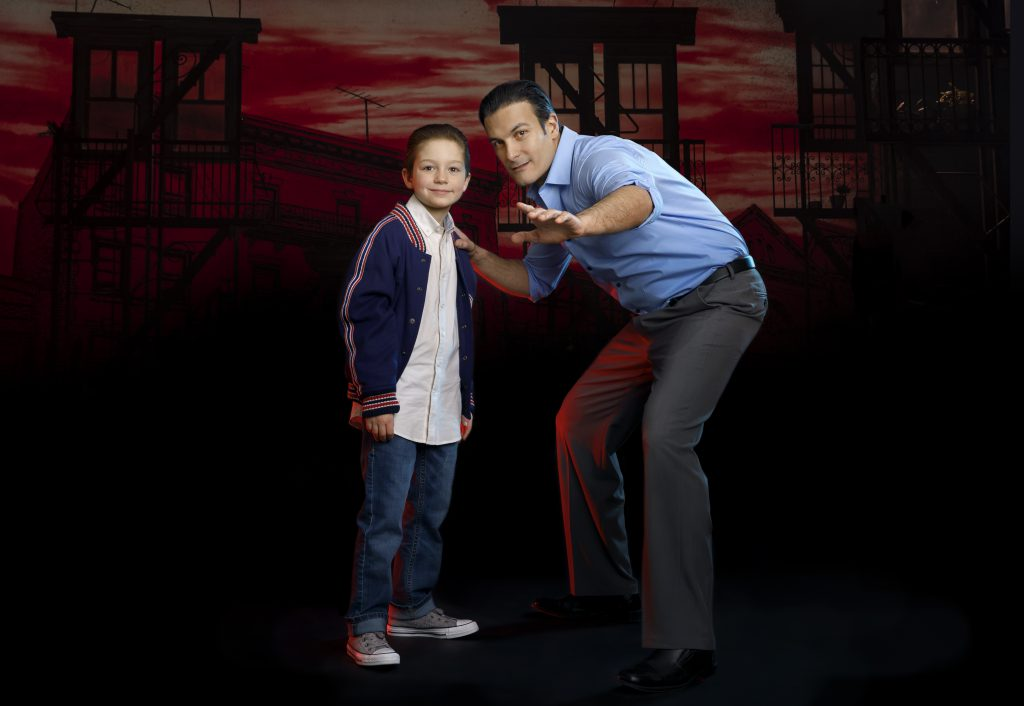 Young Calogero and Sonny in A BRONX TALE presented by Broadway On Tour Mar. 3 – 8, 2020 at Memorial Auditorium. Photo by Joan Marcus.