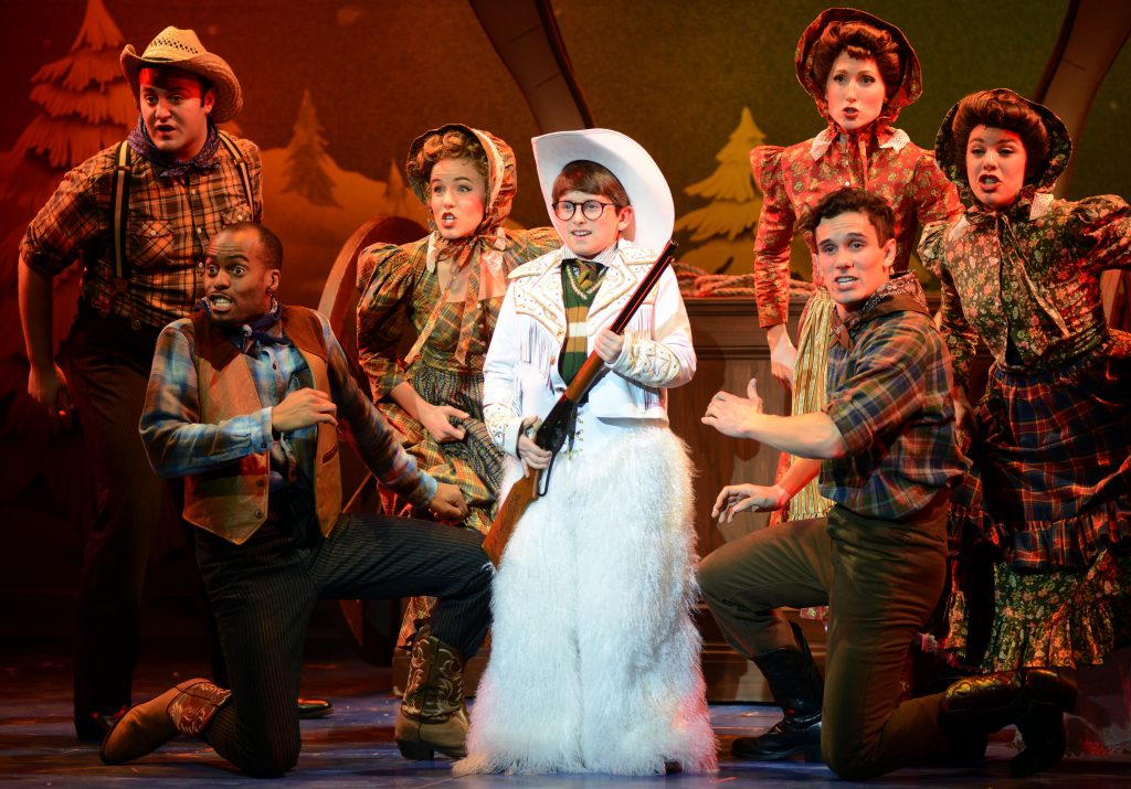 Colton Maurer as Ralphie and the company of A CHRISTMAS STORY, THE MUSICAL presented by Broadway On Tour at Memorial Auditorium Nov. 8-17, 2019. Photo by Gary Emord Netzley.