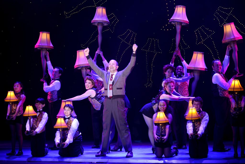 Christopher Swan as The Old Man and the company of A CHRISTMAS STORY, THE MUSICAL presented by Broadway On Tour at Memorial Auditorium Nov. 8-17, 2019. Photo by Gary Emord Netzley.
