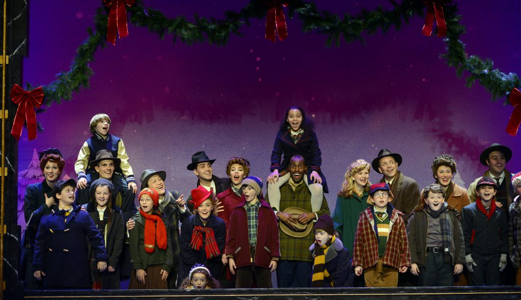 The company of A CHRISTMAS STORY, THE MUSICAL presented by Broadway On Tour at Memorial Auditorium Nov. 8-17, 2019. Photo by Gary Emord Netzley.