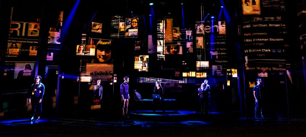 The company of DEAR EVAN HANSEN presented by Broadway On Tour Jan. 15-26, 2020 at the Memorial Auditorium. Photo by Matthew Murphy.