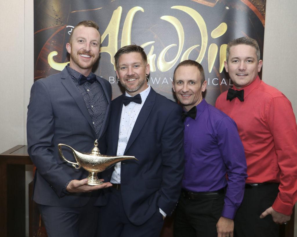 Austin Cooper,  Jason Labarthe,  Steven Walker, and Jason Russell at the Broadway Sacramento Gala May 4, 2019