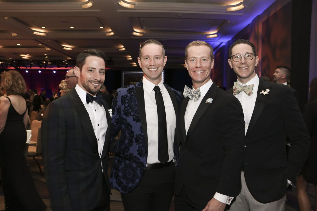 Brandon Souza, Spencer Tschida, Peter Colussy, and Willie Recht at the Broadway Sacramento Gala May 4, 2019