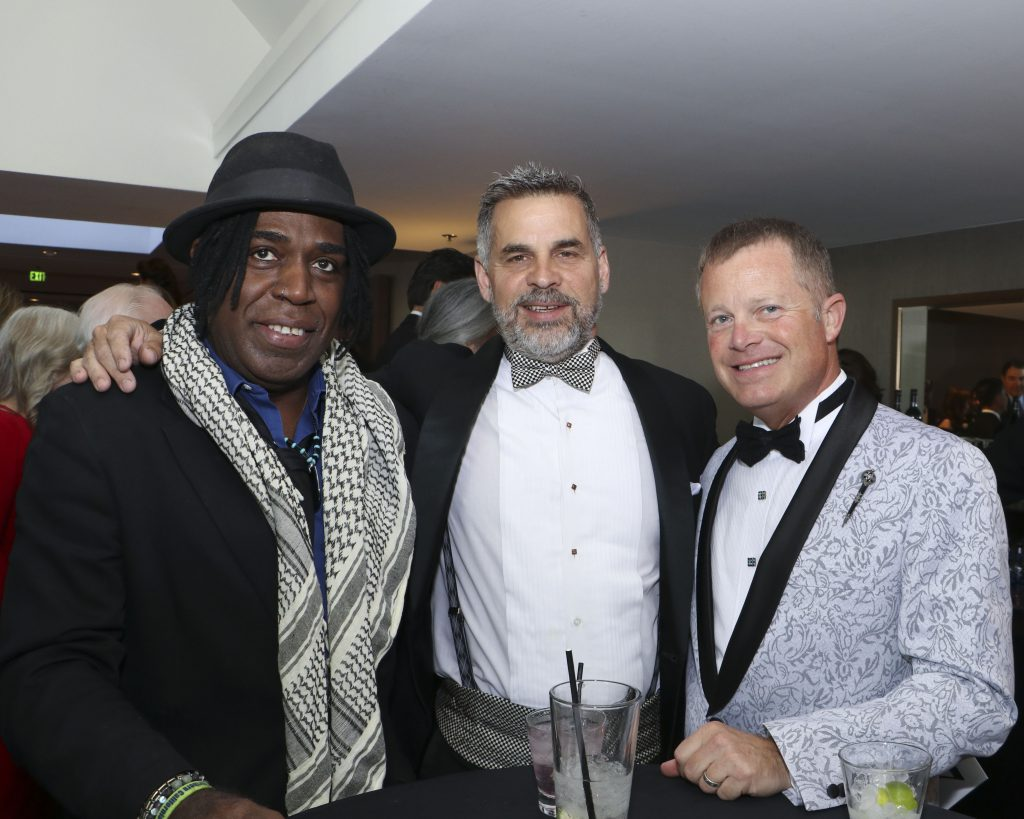 Clemon Charles, Michael Perry, Michael Sestak at the Broadway Sacramento Gala May 4, 2019