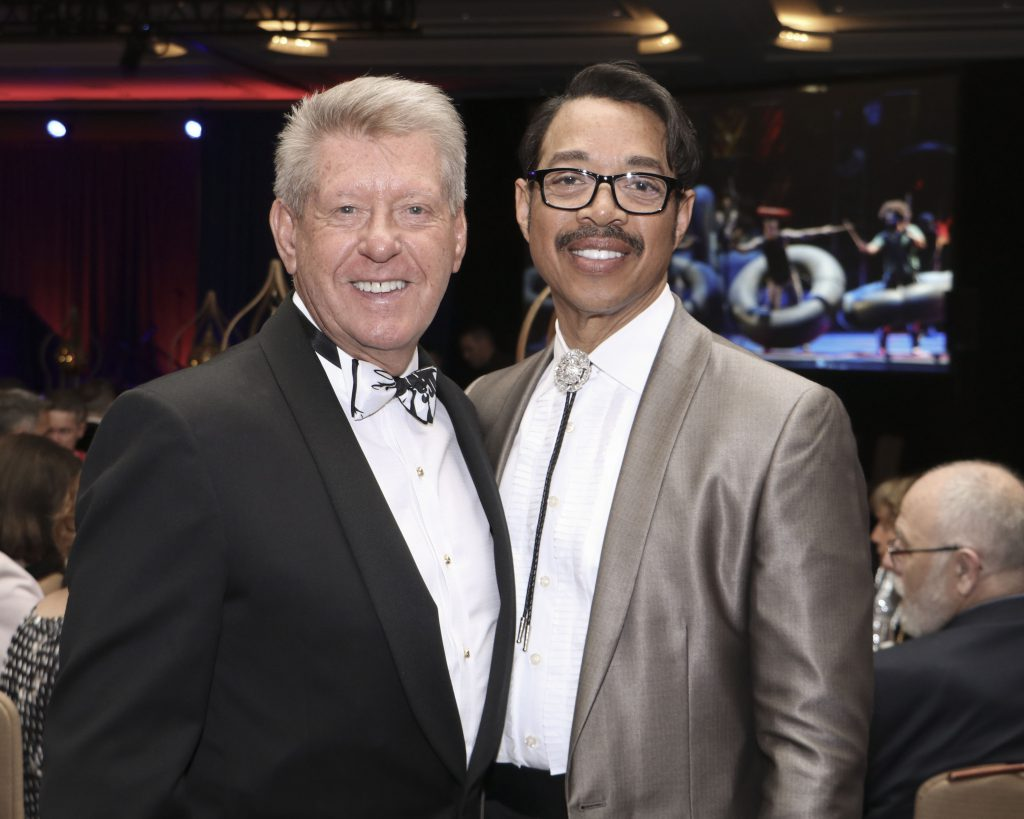 Dennis Mangers and Shaun Alston at the Broadway Sacramento Gala May 4, 2019