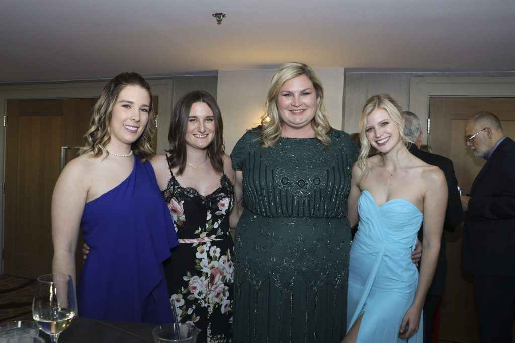 Hailey Oberst-Horner, Taylor Damele, Stephanie Brightwell, Taylor Spence at the Broadway Sacramento Gala May 4, 2019
