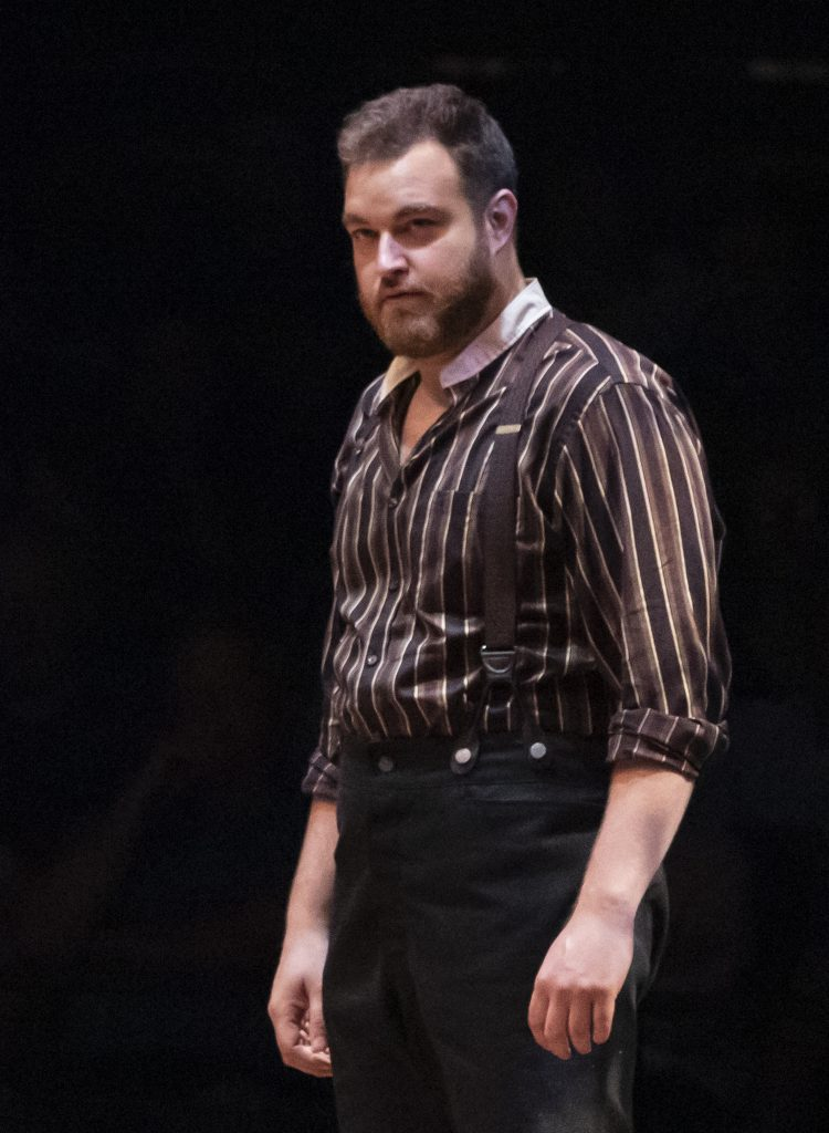John Rapson as Jud Fry in OKLAHOMA! produced by Broadway At Music Circus at the Wells Fargo Pavilion June 25-30. Photo by Charr Crail.