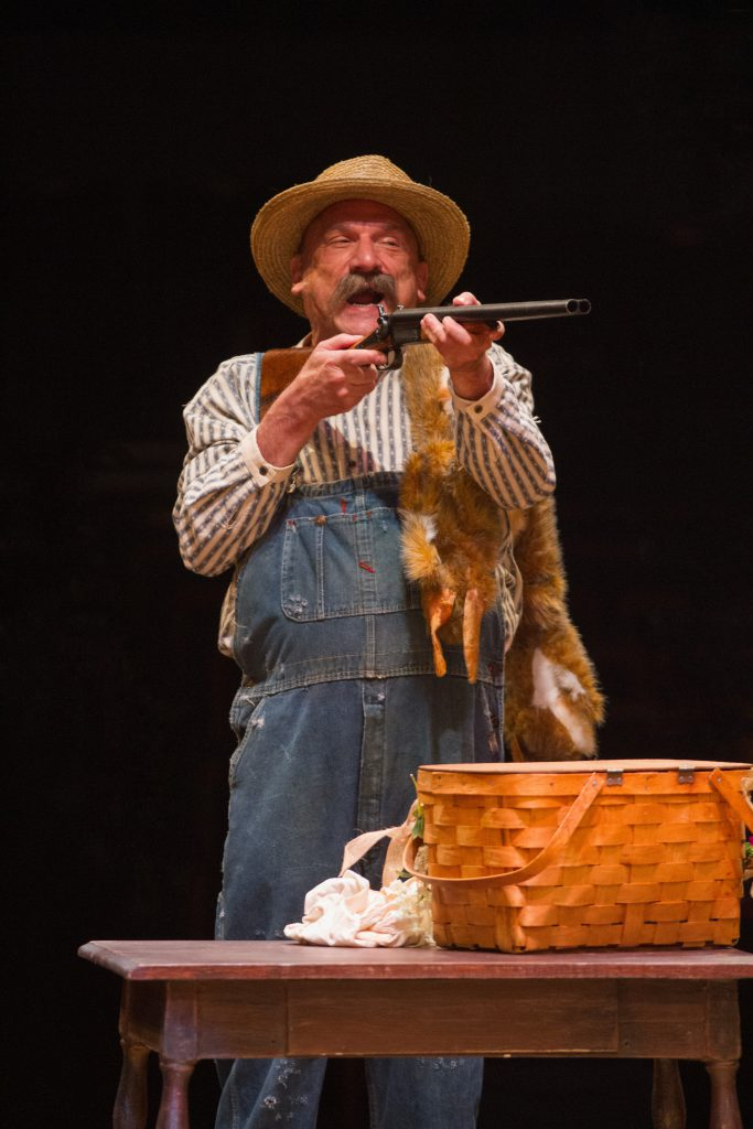 Ron Wisniski as Andrew Carnes in OKLAHOMA! produced by Broadway At Music Circus at the Wells Fargo Pavilion June 25-30. Photo by Kevin Graft.