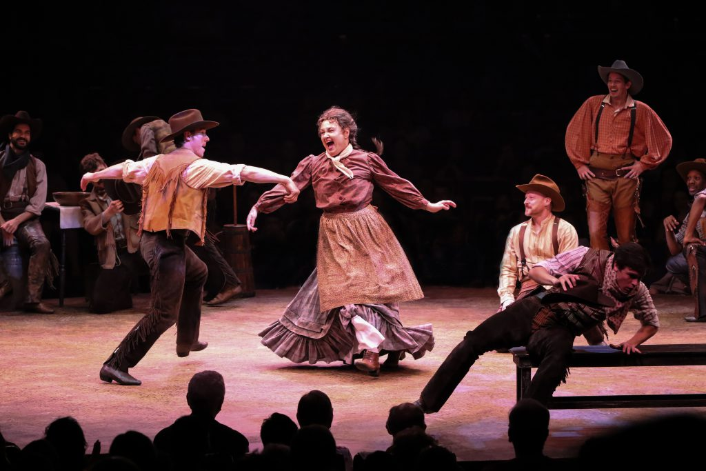 The company of OKLAHOMA! produced by Broadway At Music Circus at the Wells Fargo Pavilion June 25-30. Photo by Charr Crail.