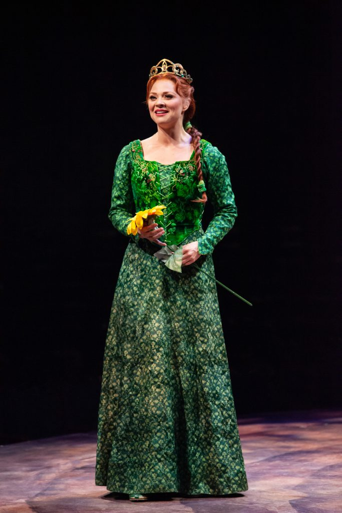 Kristen Beth Williams as Princess Fiona in SHREK THE MUSICAL produced by Broadway At Music Circus at the Wells Fargo Pavilion June 11-16. Photo by Charr Crail.