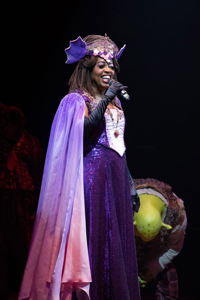 Jennifer Leigh Warren as Dragon in SHREK THE MUSICAL produced by Broadway At Music Circus at the Wells Fargo Pavilion June 11-16. Photo by Kevin Graft.