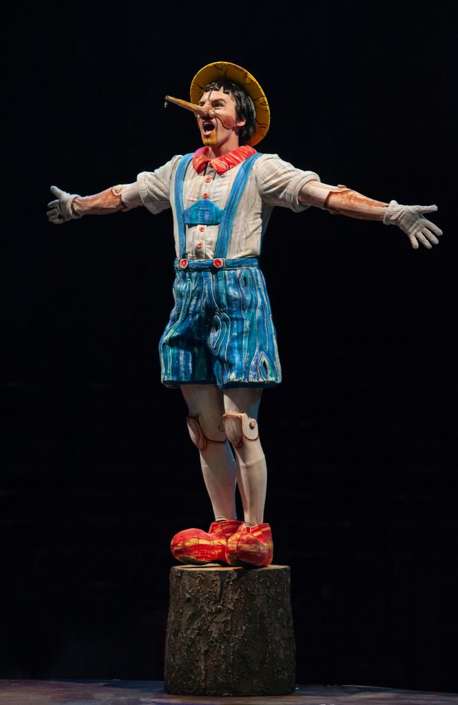 Tyler Jones as Pinocchio in SHREK THE MUSICAL produced by Broadway At Music Circus at the Wells Fargo Pavilion June 11-16. Photo by Charr Crail.