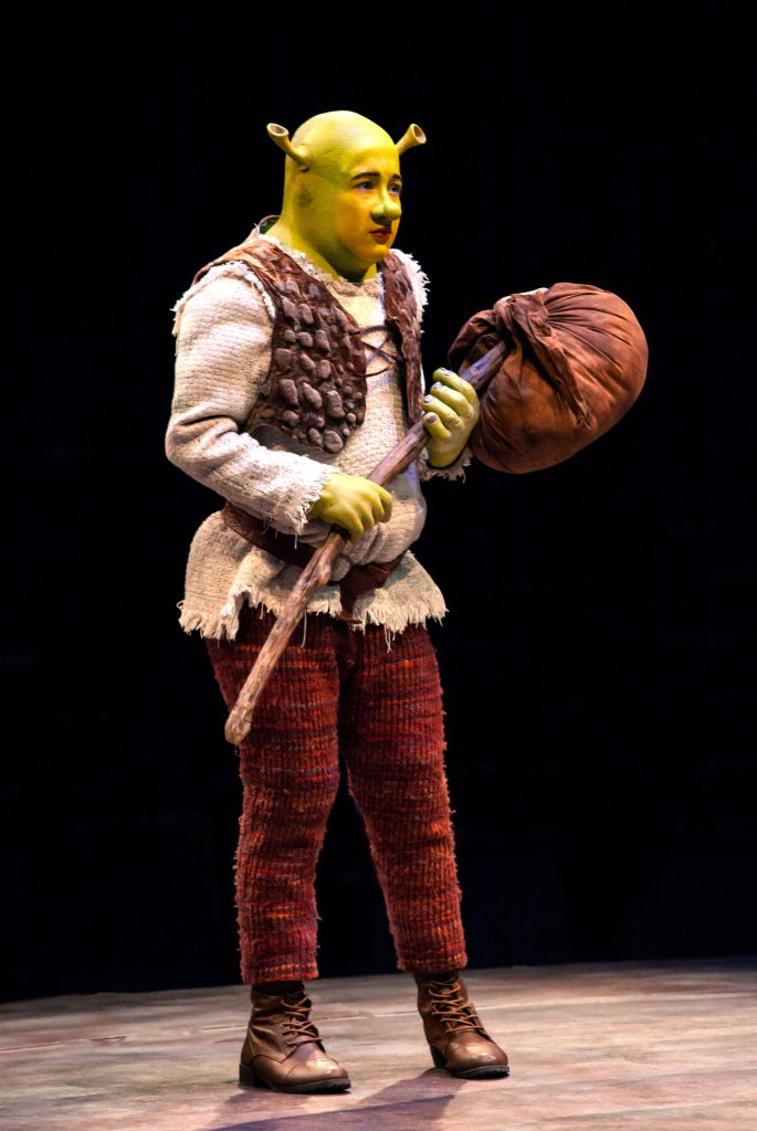 Michael Stark as Young Shrek in SHREK THE MUSICAL produced by Broadway At Music Circus at the Wells Fargo Pavilion June 11-16. Photo by Charr Crail.