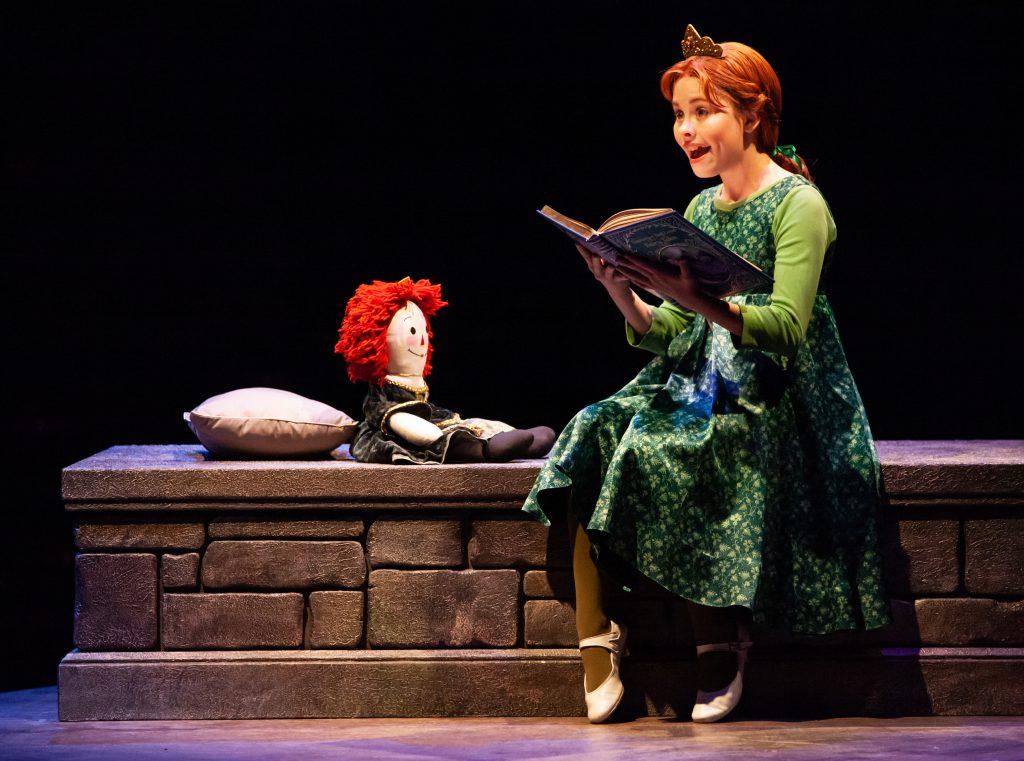 Mia Fisher as Young Fiona in SHREK THE MUSICAL produced by Broadway At Music Circus at the Wells Fargo Pavilion June 11-16. Photo by Charr Crail.