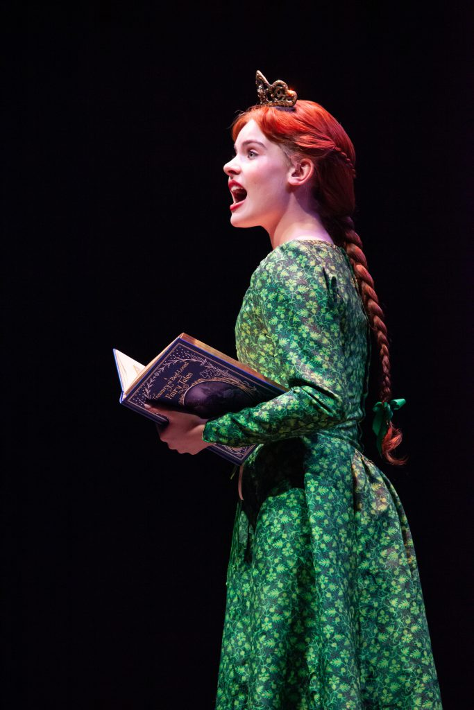 Ella Bleu Bradford as Teen Fiona in SHREK THE MUSICAL produced by Broadway At Music Circus at the Wells Fargo Pavilion June 11-16. Photo by Charr Crail.