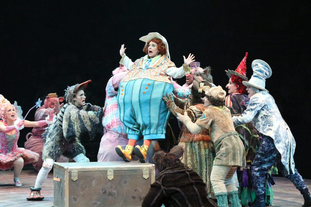 The company of SHREK THE MUSICAL produced by Broadway At Music Circus at the Wells Fargo Pavilion June 11-16. Photo by Charr Crail.