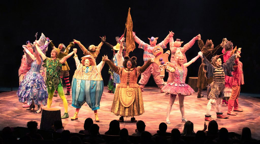 The company of SHREK THE MUSICAL produced by Broadway At Music Circus at the Wells Fargo Pavilion June 11-16. Photo by Kevin Graft.