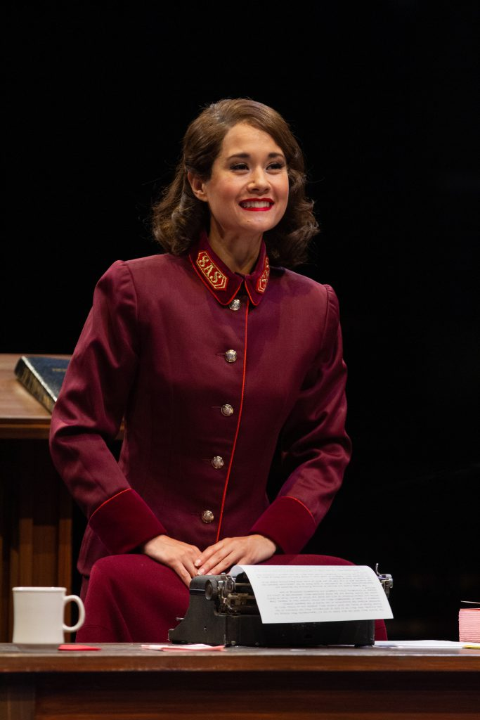 Ali Ewoldt as Sarah Brown in GUYS AND DOLLS produced by Broadway At Music Circus at the Wells Fargo Pavilion July 23-28. Photo by Kevin Graft.
