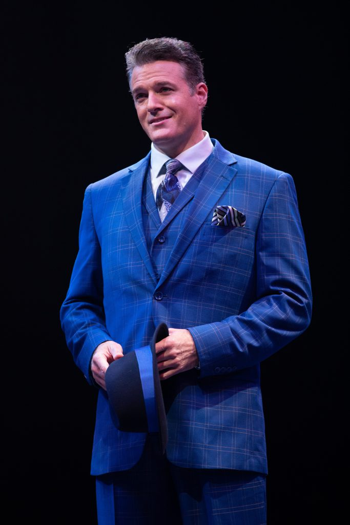 Edward Watts as Sky Masterson in GUYS AND DOLLS produced by Broadway At Music Circus at the Wells Fargo Pavilion July 23-28. Photo by Kevin Graft.
