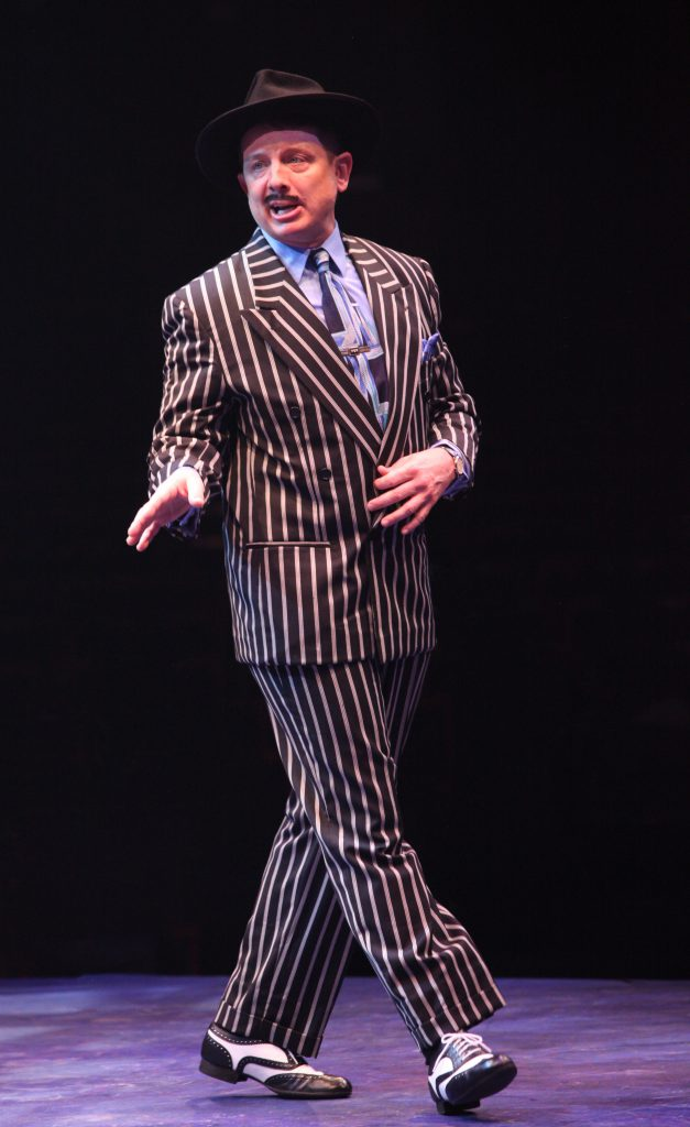 Jeff Skowron as Nathan Detroit in GUYS AND DOLLS produced by Broadway At Music Circus at the Wells Fargo Pavilion July 23-28. Photo by Charr Crail.