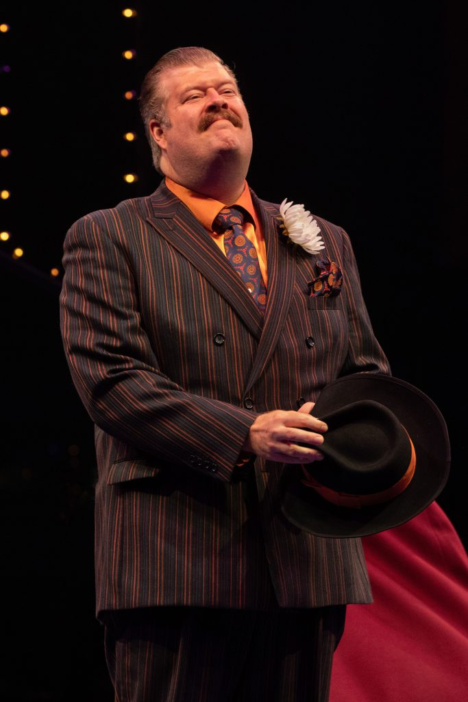 Jerry Gallagher as Big Jule in GUYS AND DOLLS produced by Broadway At Music Circus at the Wells Fargo Pavilion. Photo by Kevin Graft.