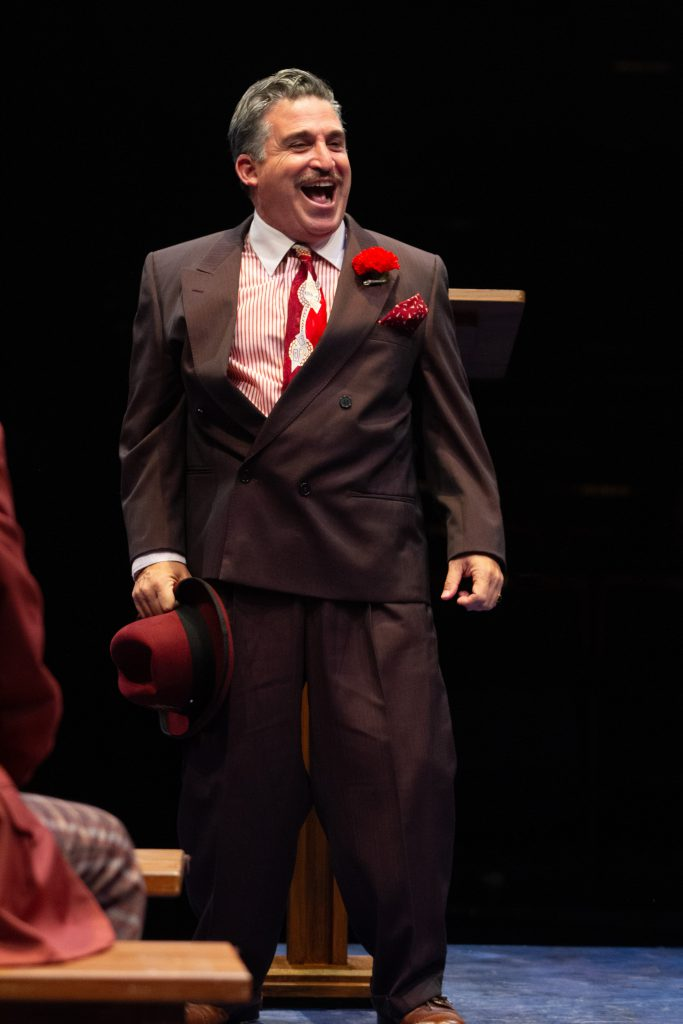 Carlos Lopez as Harry the Horse in GUYS AND DOLLS produced by Broadway At Music Circus at the Wells Fargo Pavilion. Photo by Kevin Graft.