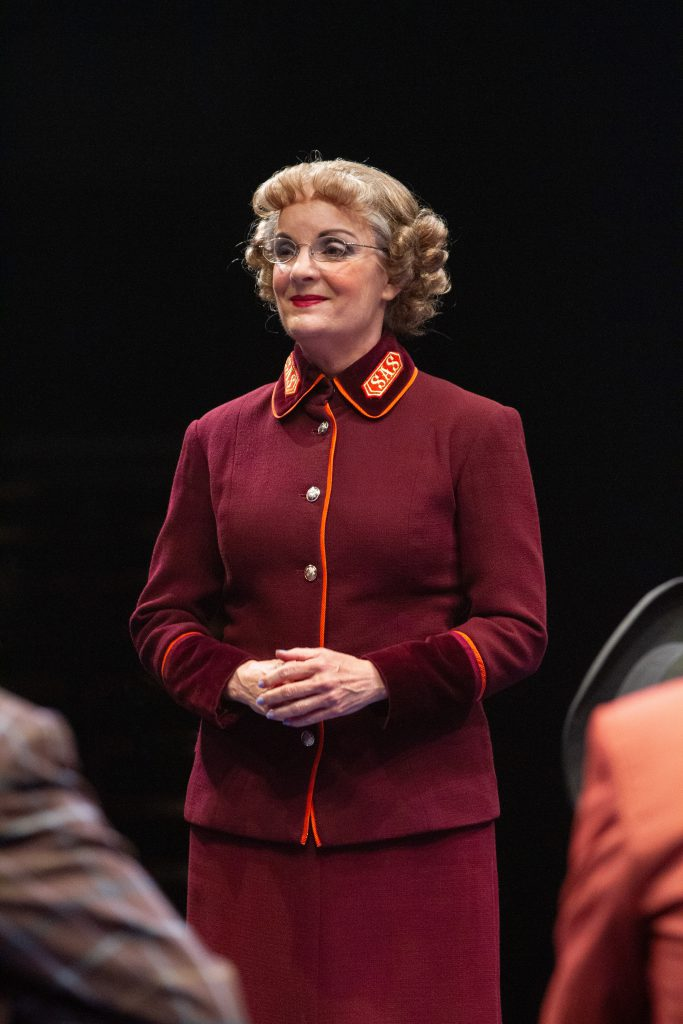 Jennifer Smith as General Cartwright in GUYS AND DOLLS produced by Broadway At Music Circus at the Wells Fargo Pavilion. Photo by Kevin Graft.