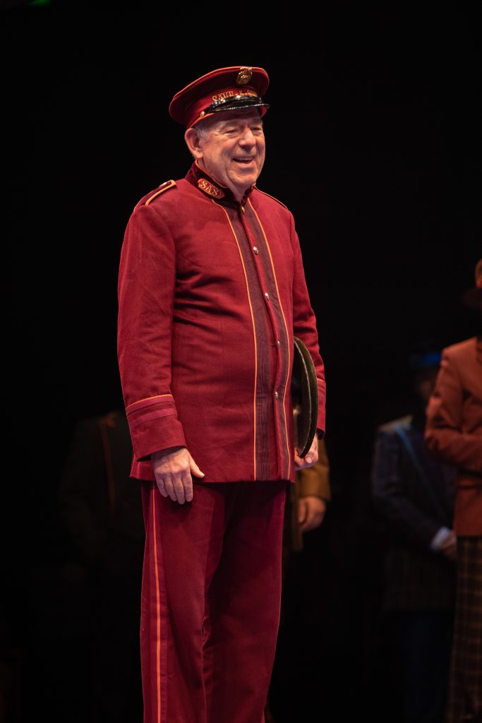 Lenny Wolpe as Arvide Abernathy in GUYS AND DOLLS produced by Broadway At Music Circus at the Wells Fargo Pavilion. Photo by Kevin Graft.