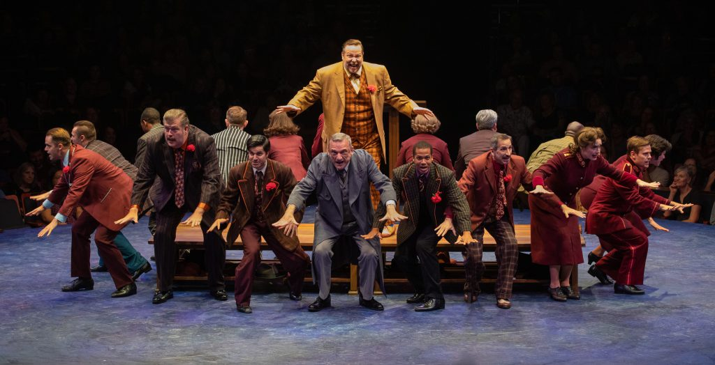 The company of GUYS AND DOLLS produced by Broadway At Music Circus at the Wells Fargo Pavilion July 23-28. Photo by Kevin Graft.