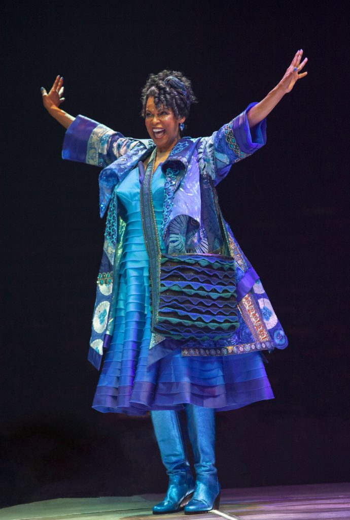Terry Burrell as Addaperle in THE WIZ produced by Broadway At Music Circus at the Wells Fargo Pavilion August 6-11. Photo by Charr Crail.
