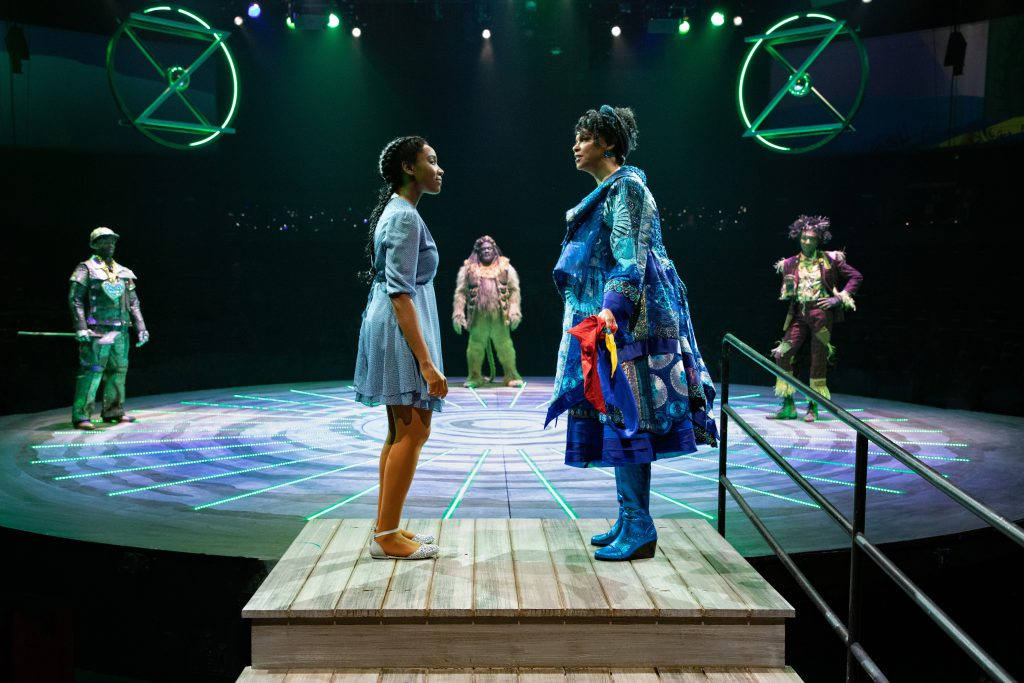 The company of THE WIZ produced by Broadway At Music Circus at the Wells Fargo Pavilion August 6-11. Photo by Kevin Graft.