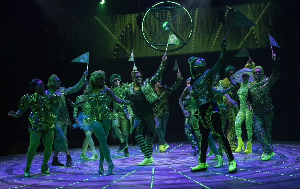 The company of THE WIZ produced by Broadway At Music Circus at the Wells Fargo Pavilion August 6-11. Photo by Charr Crail.