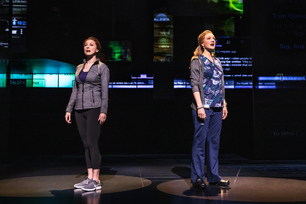 Claire Rankin as Cynthia Murphy and Jessica Sherman as Heidi Hansen in DEAR EVAN HANSEN presented by Broadway On Tour Jan. 15-26, 2020 at the Memorial Auditorium. Photo by Matthew Murphy.