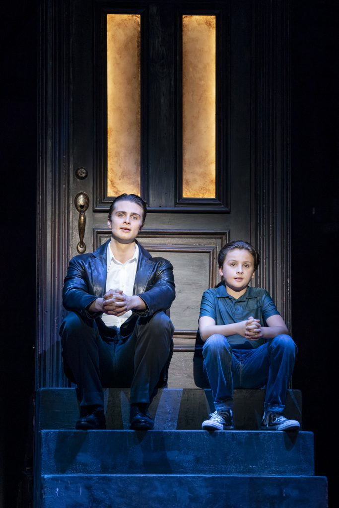 Alec Nevin as Calogero and Trey Murphy as Young C in A BRONX TALE presented by Broadway On Tour Mar. 3 – 8, 2020 at Memorial Auditorium. Photo by Joan Marcus.