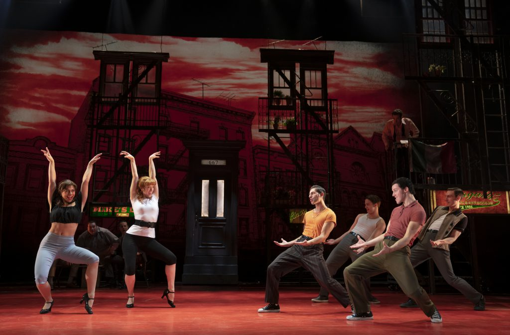 The company of A BRONX TALE presented by Broadway On Tour Mar. 3 – 8, 2020 at Memorial Auditorium. Photo by Joan Marcus.