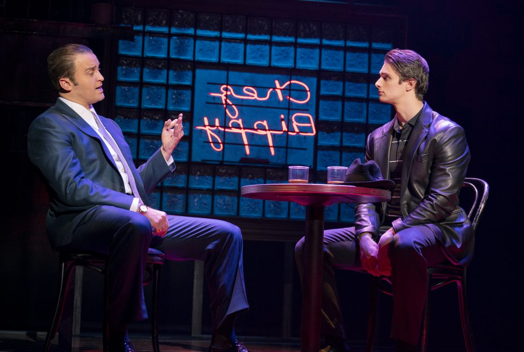 Jeff Brooks as Sonny and Alec Nevin as Calogero in A BRONX TALE presented by Broadway On Tour Mar. 3 – 8, 2020 at Memorial Auditorium. Photo by Joan Marcus.