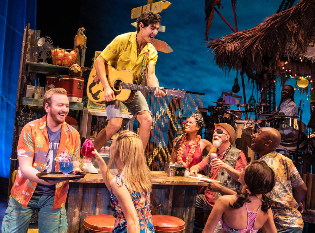 Company of Jimmy Buffett's ESCAPE TO MARGARITAVILLE presented by Broadway Sacramento at Memorial Auditorium Sep. 8-13, 2020. Photo by Matthew Murphy.