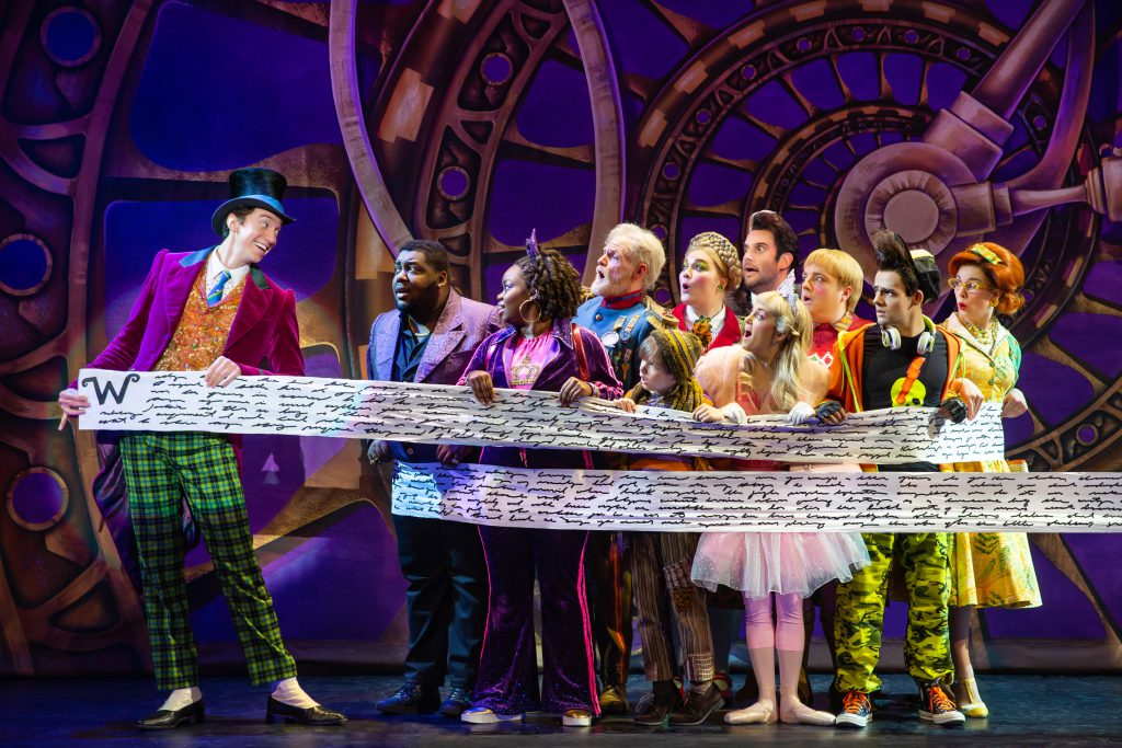 Company of Roald Dahl's CHARLIE AND THE CHOCOLATE FACTORY presented by Broadway On Tour December 28, 2021 – January 2, 2022 at the SAFE Credit Union Performing Arts Center. Photo by Jeremy Daniel.