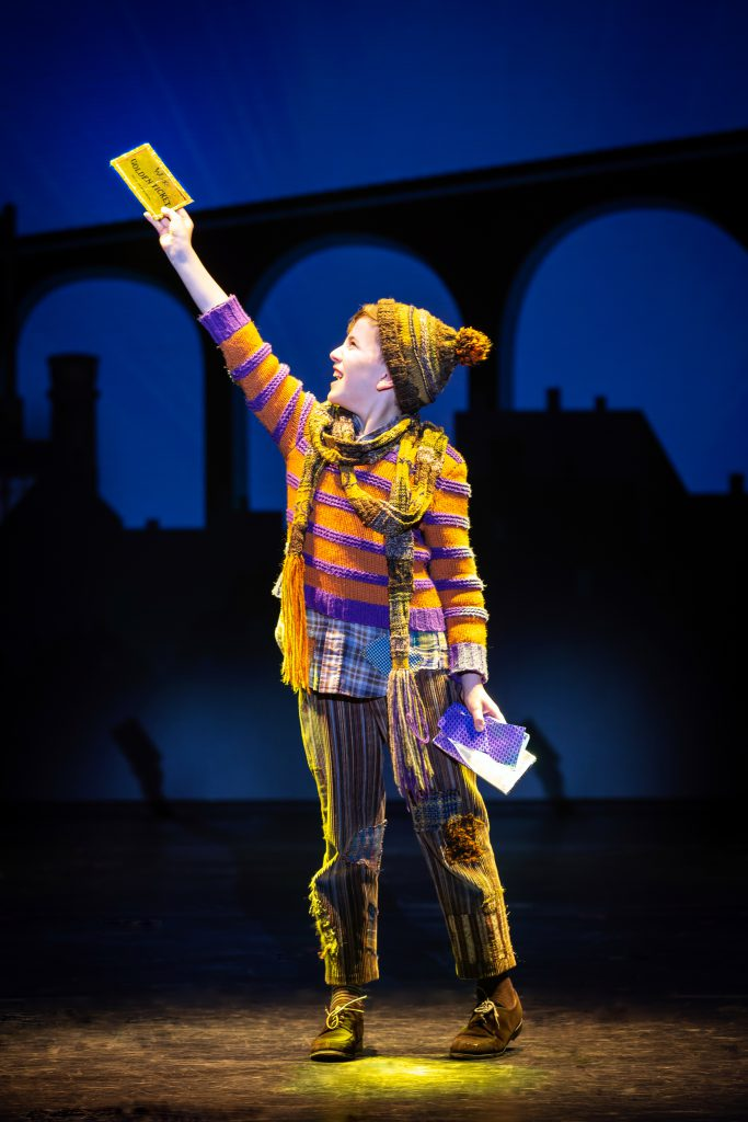 Ryan Umbarila as Charlie Bucket in Roald Dahl's CHARLIE AND THE CHOCOLATE FACTORY presented by Broadway On Tour December 28, 2021 – January 2, 2022 at the SAFE Credit Union Performing Arts Center. Photo by Jeremy Daniel.