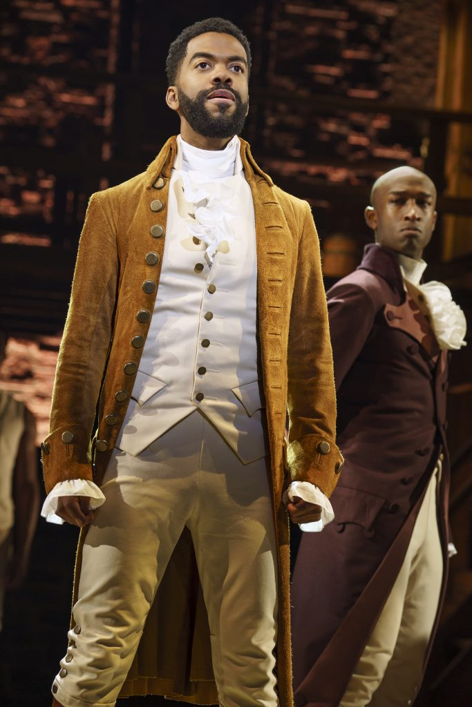 Julius Thomas III in HAMILTON presented by Broadway On Tour September 15 – October 10, 2021 at the SAFE Credit Union Performing Arts Center. Photo by Joan Marcus.