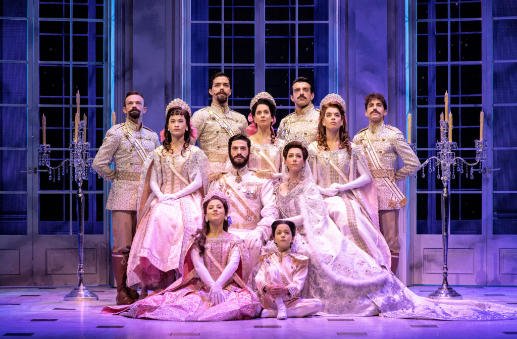 Company of ANASTASIA presented by Broadway On Tour at the SAFE Credit Union Performing Arts Center February 1 – 6, 2022. Photo by Javier Naval.
