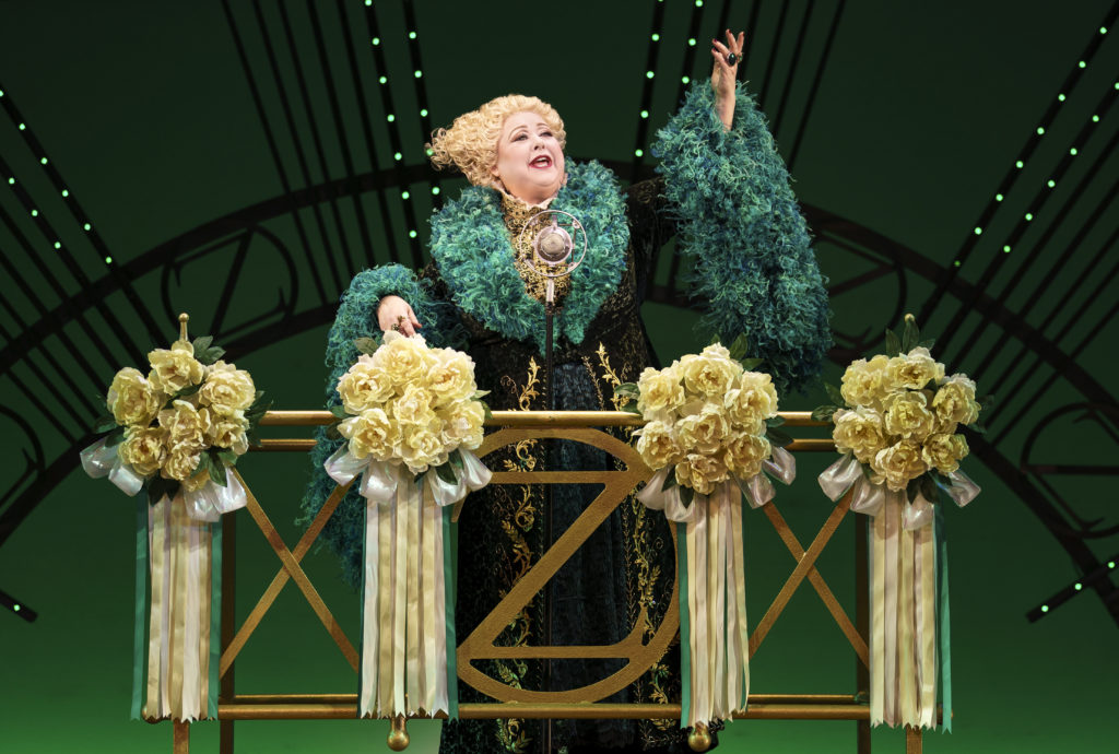 Sharon Sachs as Madame Morrible in WICKED presented by Broadway On Tour at the SAFE Credit Union Performing Arts Center March 30 – April 24, 2022. Photo by Joan Marcus.