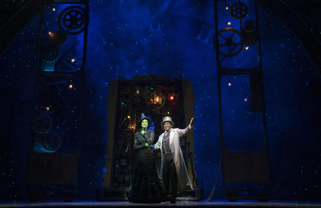 Talia Suskauer and Cleavant Derricks in WICKED presented by Broadway On Tour at the SAFE Credit Union Performing Arts Center March 30 – April 24, 2022. Photo by Joan Marcus.
